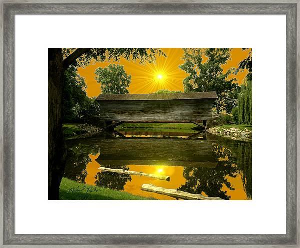Ackley Covered Bridge Framed Print