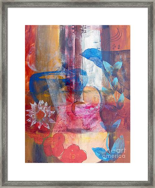Acoustic Cafe Framed Print