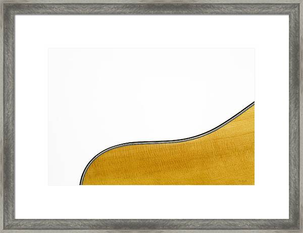 Acoustic Curve Framed Print