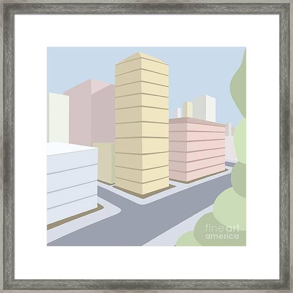 Across From The Park Framed Print