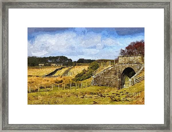 Across The Old Railway - Phot Art Framed Print