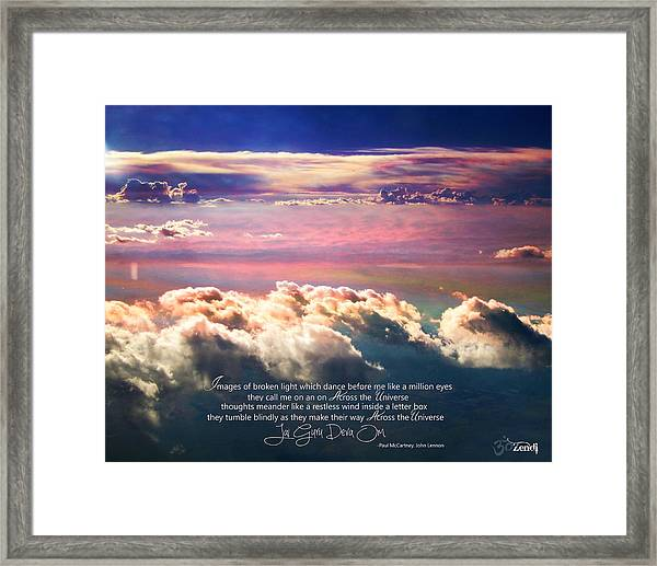 Across The Universe Framed Print
