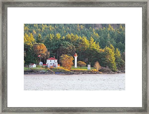 Active Pass Light House Framed Print