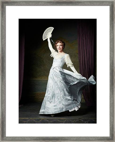 Actors In Period Costume On Stage Framed Print