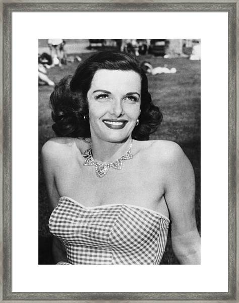 Actress Jane Russell Framed Print