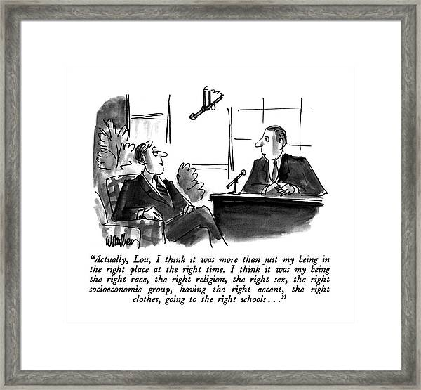Actually, Lou, I Think It Was More Than Framed Print