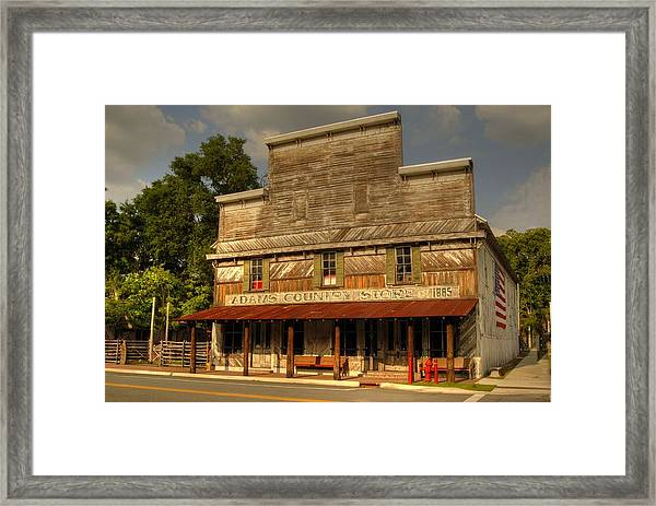 Adams Old Country Store Framed Print