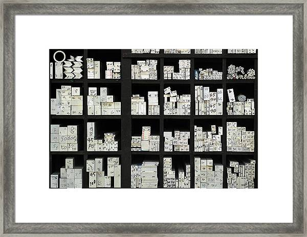 Address Framed Print by Donghee, Han