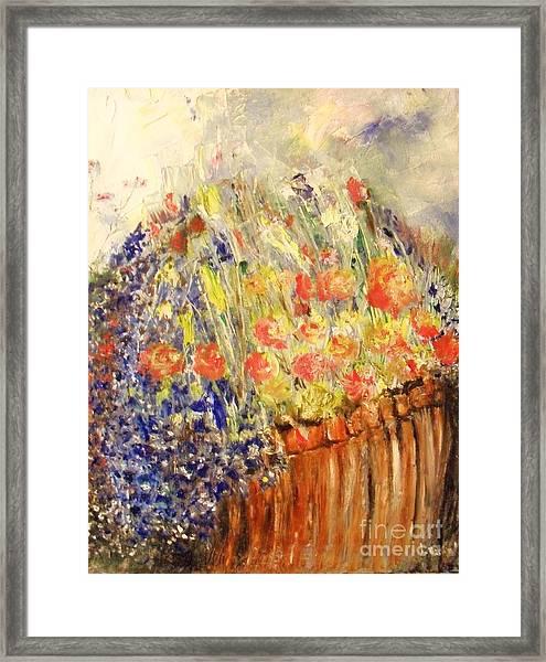 Adirondack Floral Framed Print