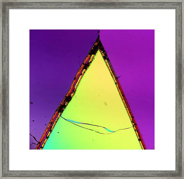 Fractured Faith Framed Print