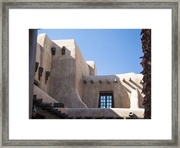 Adobe Sky Framed Print