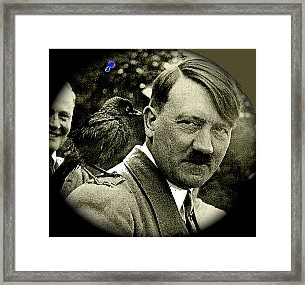 Adolf Hitler And A Feathered Friend C.1941-2008 Framed Print