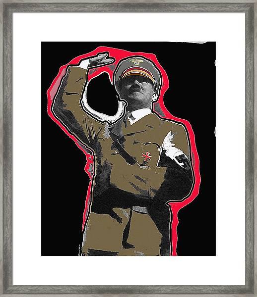 Adolf Hitler Saluting 2 Circa 1933-2009 Framed Print