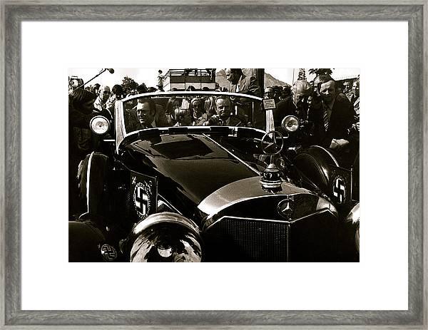 Adolf Hitler's 1941 Mercedes-benz 770-k Touring Car Sold At Auction Scottsdale Arizona 1973 Framed Print