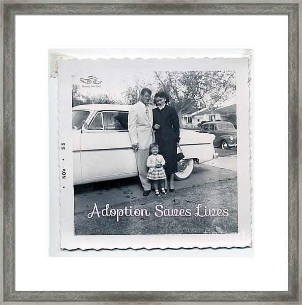 Adoption Saves Lives Framed Print