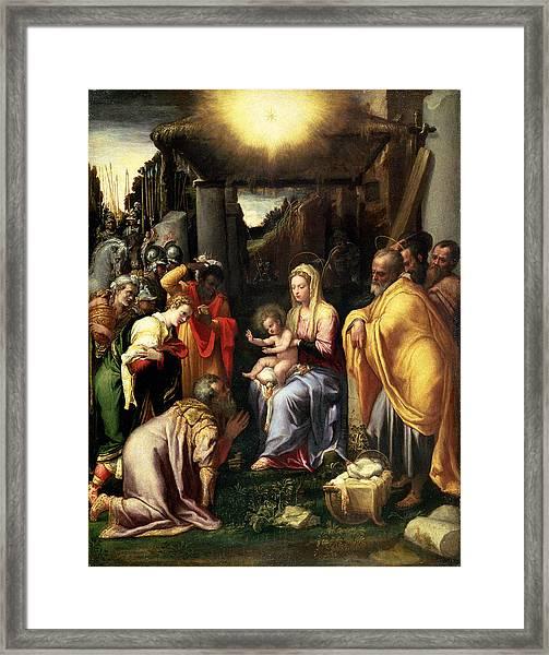 Adoration Of The Kings Framed Print