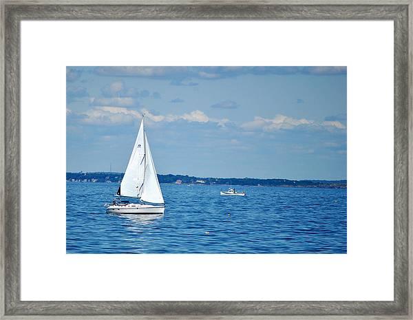 Adrift In The Atlantic Framed Print