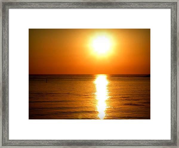 Aegean Sunset Framed Print