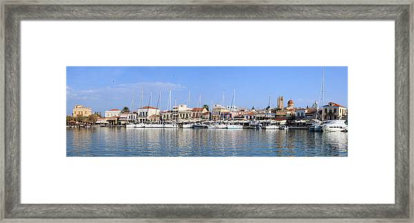 Aegina Town Harbour  Framed Print