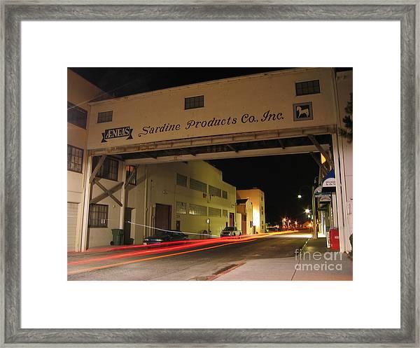 Aeneas Overpass On Cannery Row Framed Print
