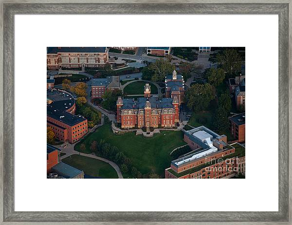 Aerial Of Woodburn Hall Framed Print