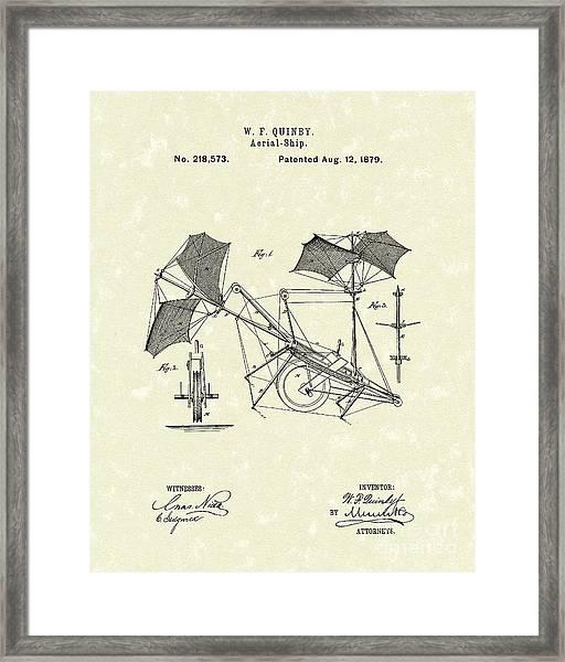 Aerial Ship 1879 Patent Art Framed Print