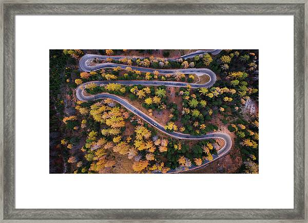 Aerial View Of Vrsic Mountain Pass Framed Print