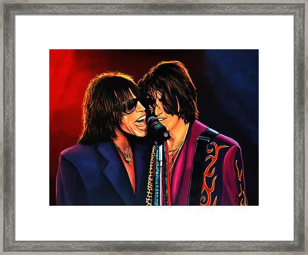 Aerosmith Toxic Twins Painting Framed Print