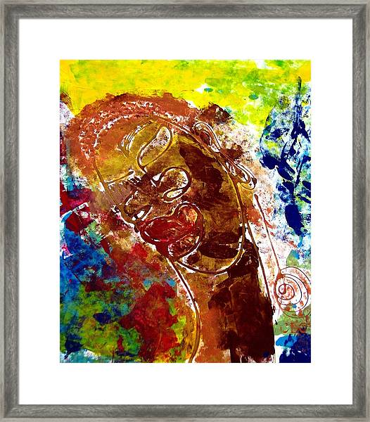 African Alpha Female Framed Print