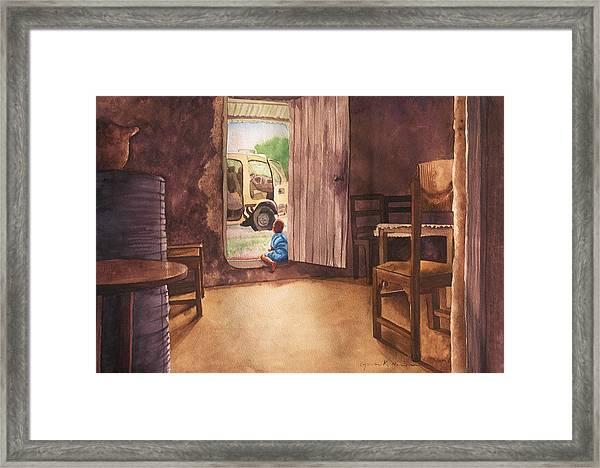 African Child's Dream Framed Print
