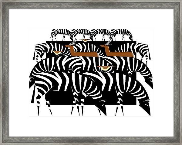 African Plains Framed Print