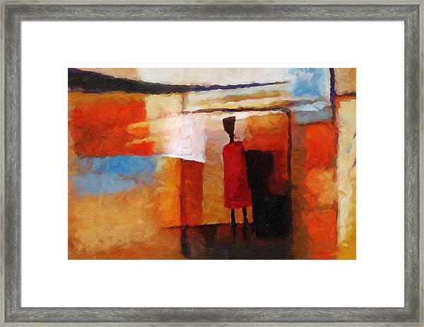 Africana Framed Print