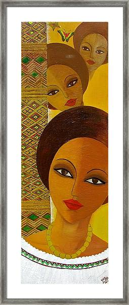 Afro Beauty Framed Print