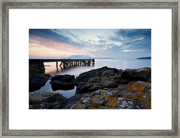 After Sun At Portencross Framed Print