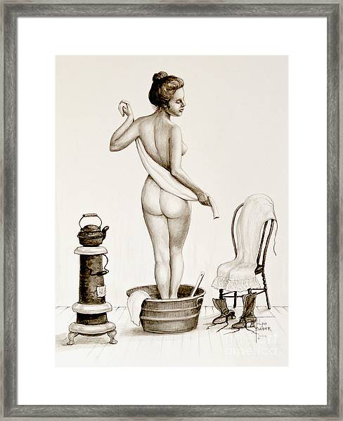After The Bath 1890's Framed Print