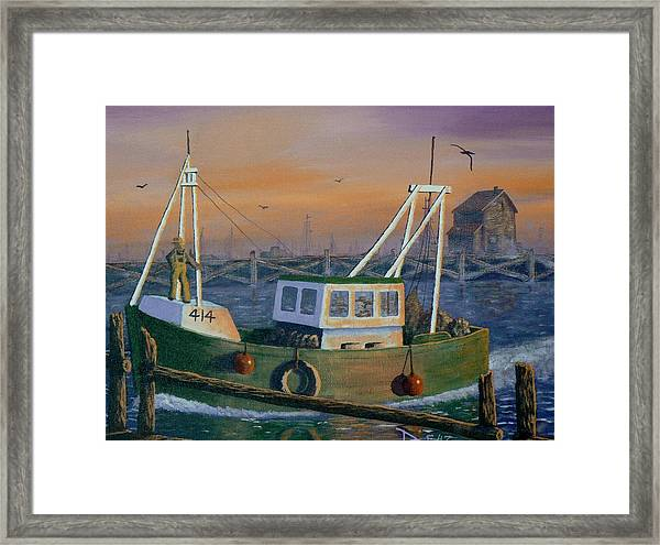After The Catch Framed Print