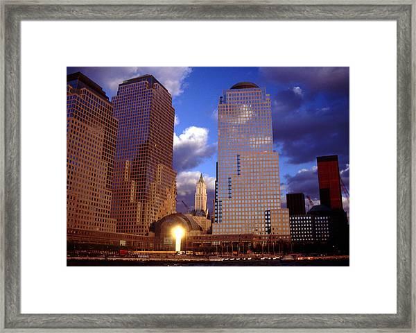 After The Fall Lower Manhattan Framed Print
