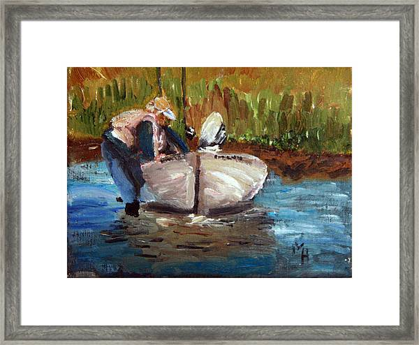 After The Fish Framed Print