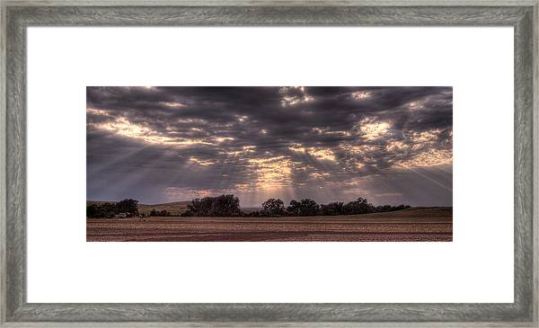 After The Harvest Framed Print