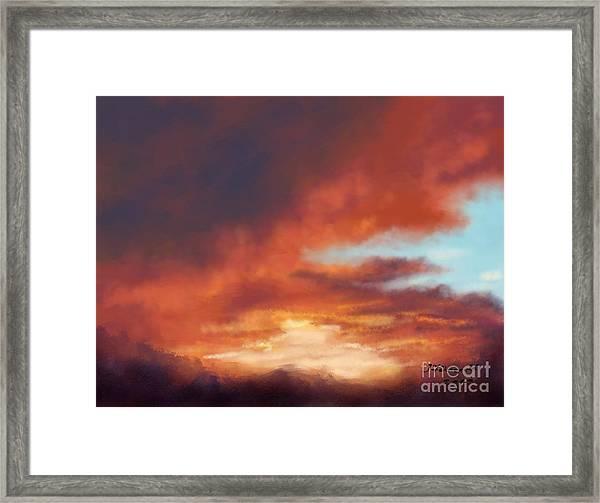 After The Storm Framed Print by Judy Filarecki