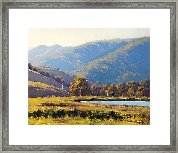 Afternnon Light Lithgow Framed Print