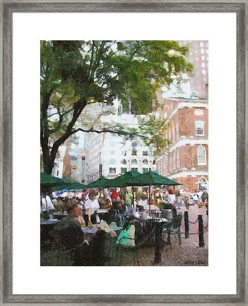 Afternoon At Faneuil Hall Framed Print