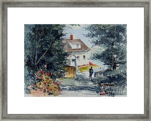 Afternoon At Owl's Head Lighthouse Framed Print