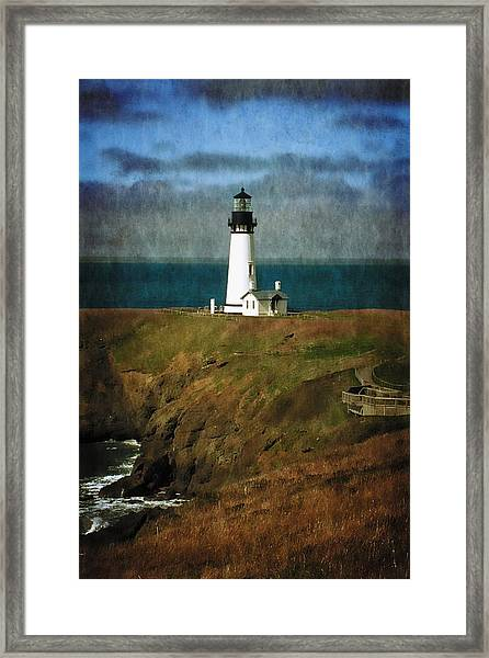 Afternoon At The Yaquina Head Lighthouse Framed Print