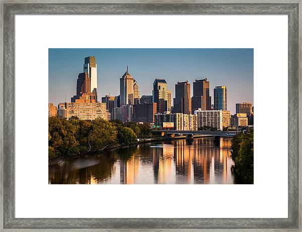 Afternoon In Philly Framed Print
