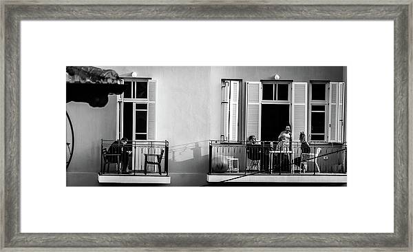 Afternoon On The Balcony Framed Print