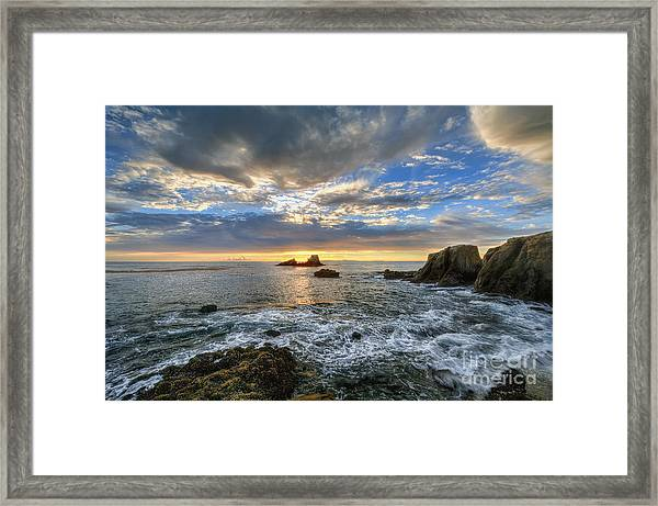 Afternoon Sky In Laguna Beach Framed Print