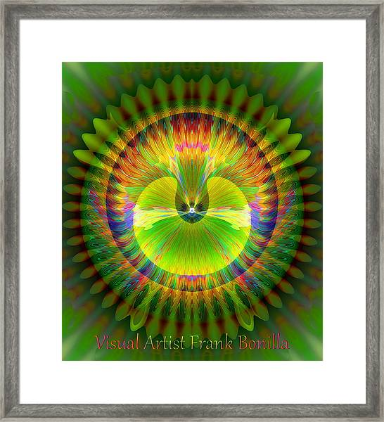 Framed Print featuring the digital art Afternoon Sunrise by Visual Artist Frank Bonilla