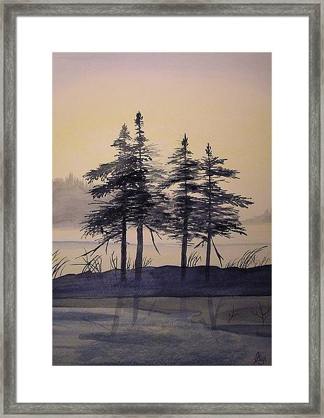Framed Print featuring the painting Aguasabon Trees by Gigi Dequanne