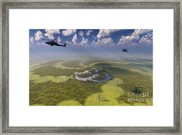 Ah-64 Apache Black Ops Helicopters Framed Print